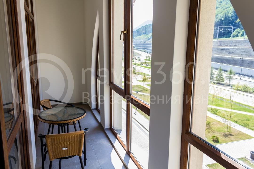 Балкон номера Вид внутри апартаментов Горки Город