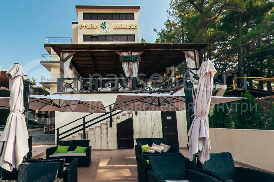 Отель Парк Хаус Дивноморское, кафе, фасад