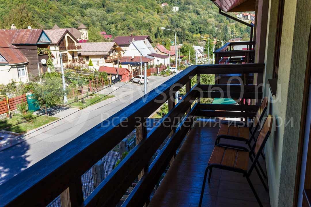 Балкон в гостинице Apart в Сочи, Красная поляна