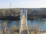 Пешеходный мост через Урал