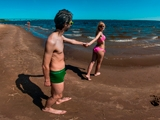 Волжские Дали, пляж