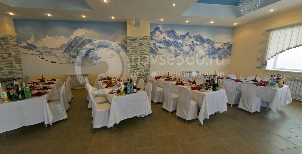Банкетное оформление каминного зала ресторана в Новинки